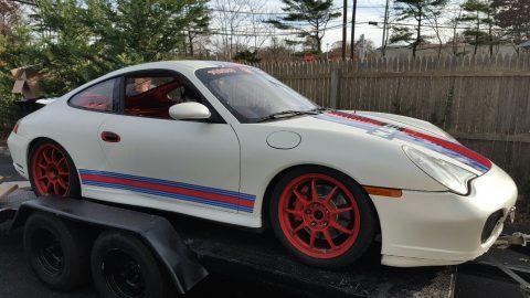 2003 Porsche 911 Carrera 4S 996 Martini Racecar with trailer for sale